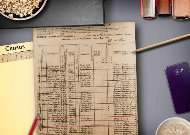 1880 Census Hugh
