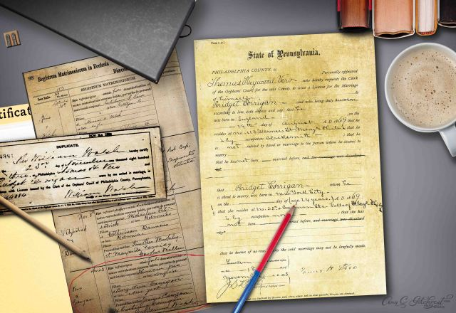 Bridget Marriage Certificate