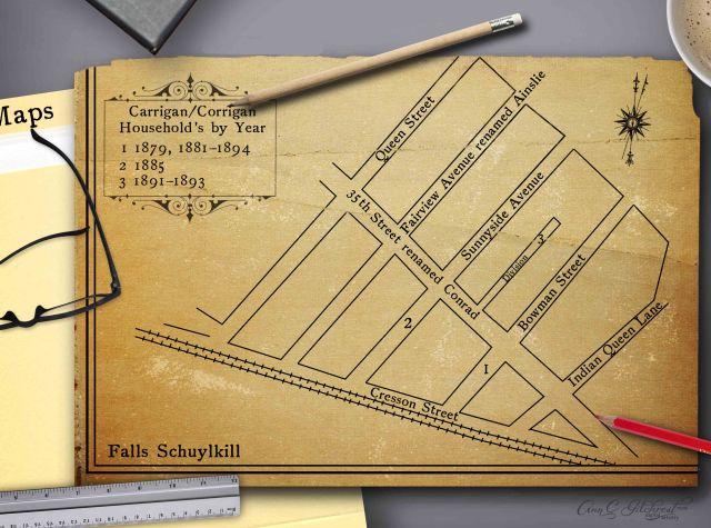 Falls Shulykill Map
